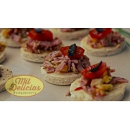 100 Mini Pizzas de coctel